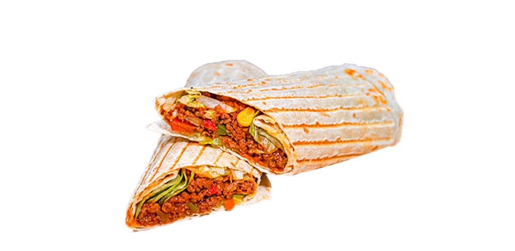 Minced Beef Tortilla Sandwich