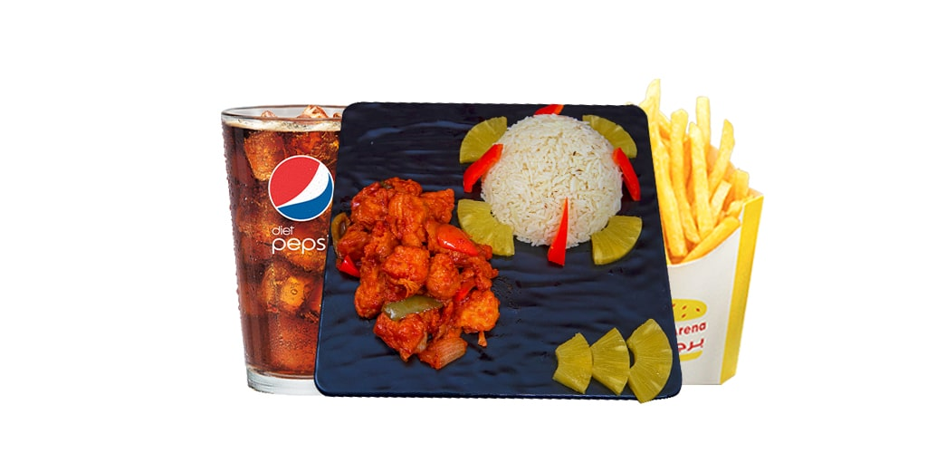 Chicken sweet sour Meal ( Juice )