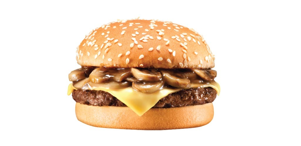 Swiss Mushroom Burger Sandwich