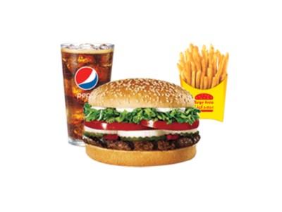 BBQ Beef Burger Meal